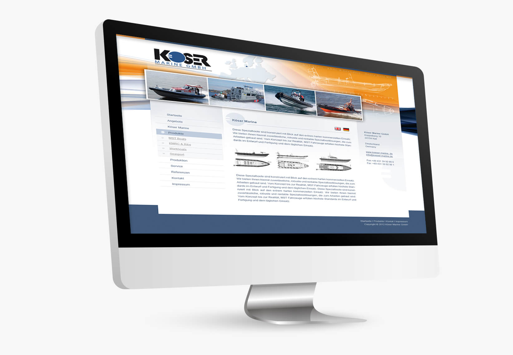 Koeser Maritim Website