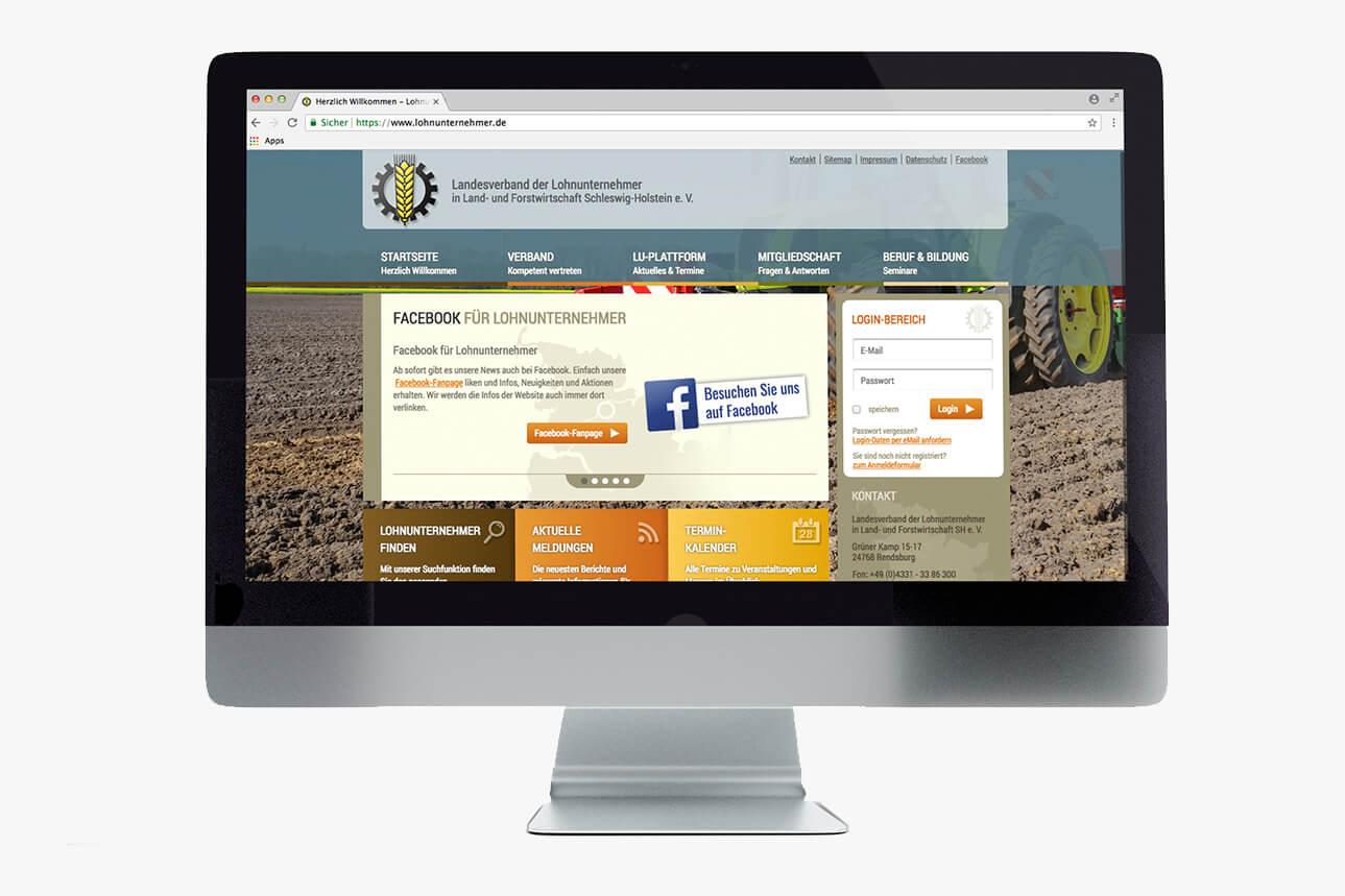 Lohnunternehmerverband Website