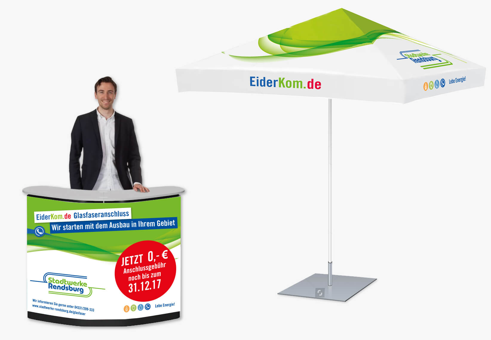 EiderKom Promotion Sonnenschirm