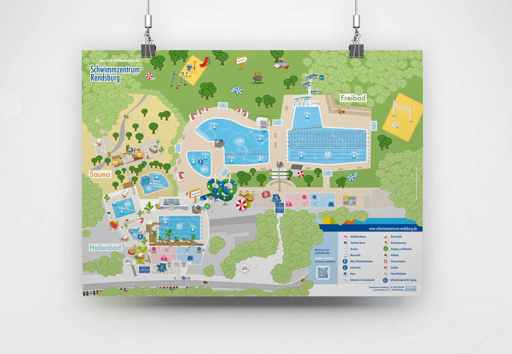 Schwimmzentrum Lageplan