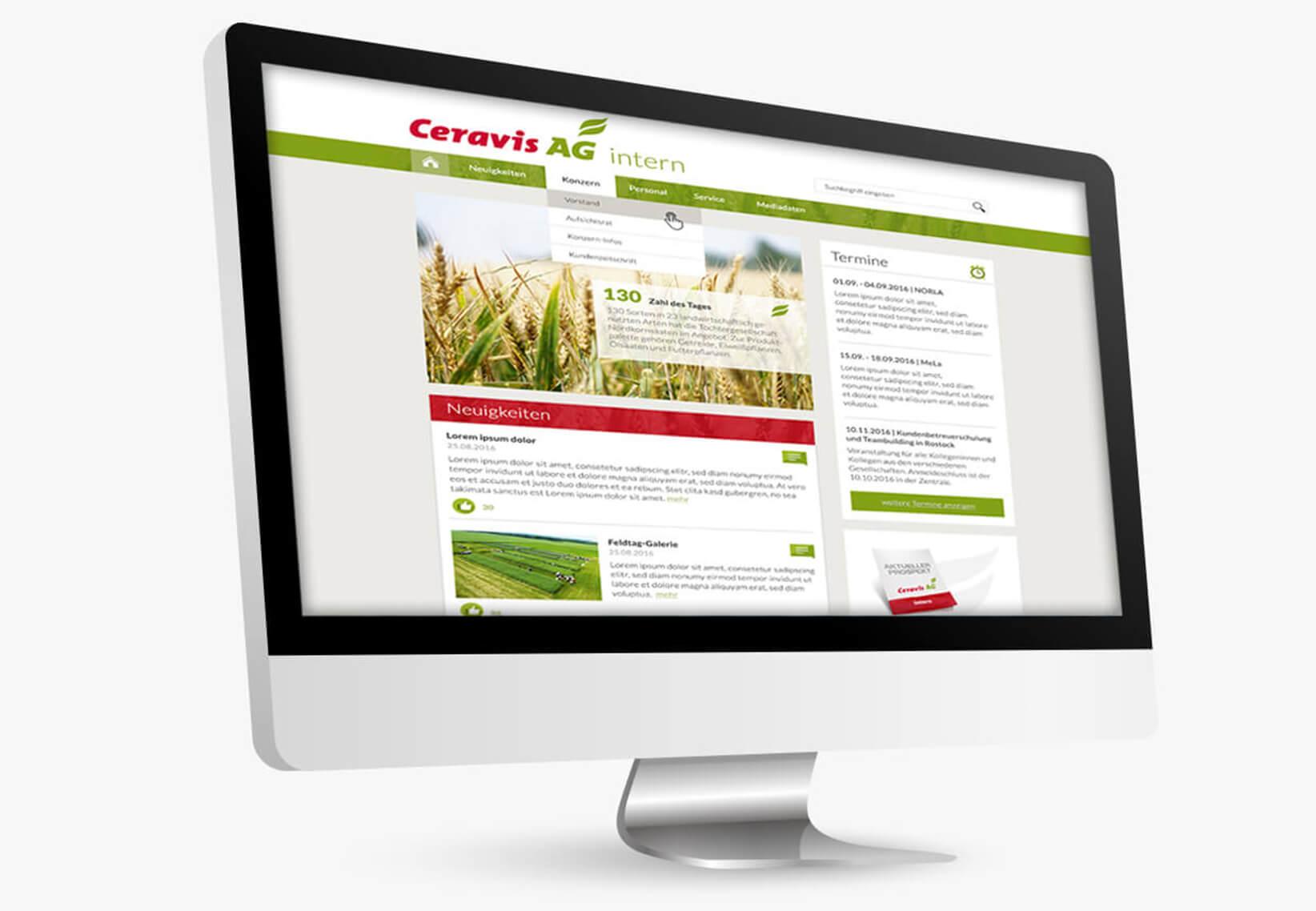 Webdesign_ceravis_intranet
