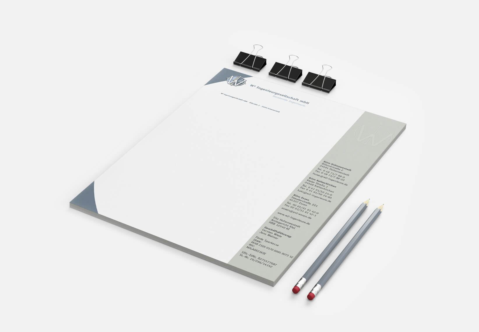W2 Ingenieurgesellschaft Briefbögen