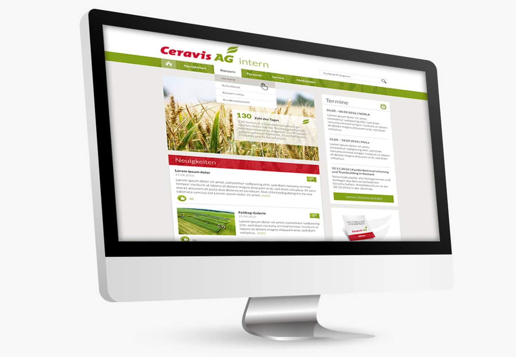 Webdesign_ceravis_intranet