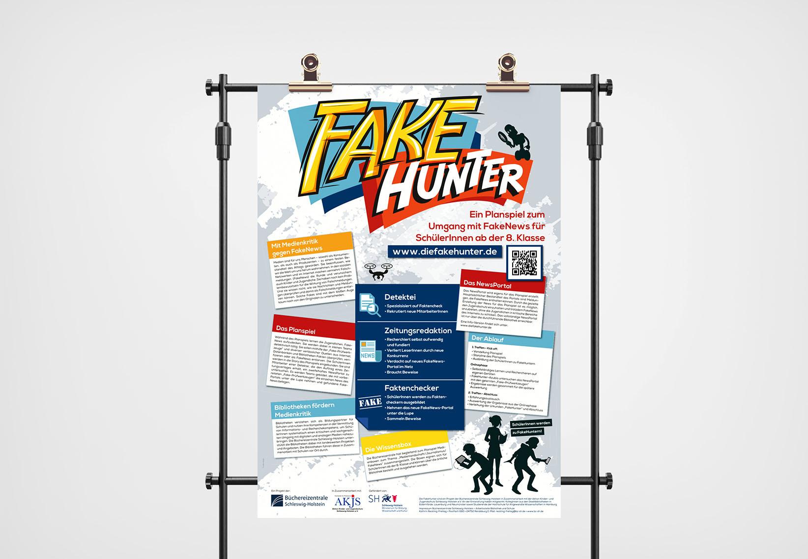 Plakat A0 Projekt FakeHunter
