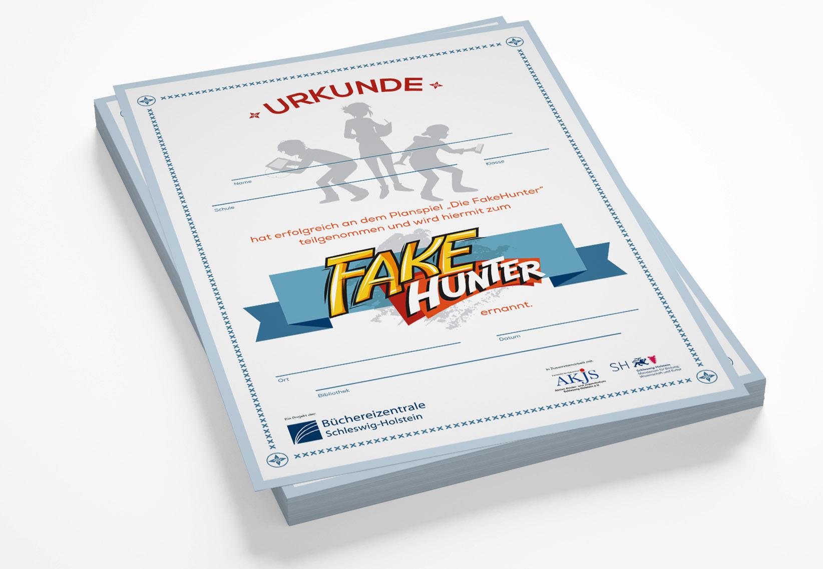 Urkunde Projekt FakeHunter