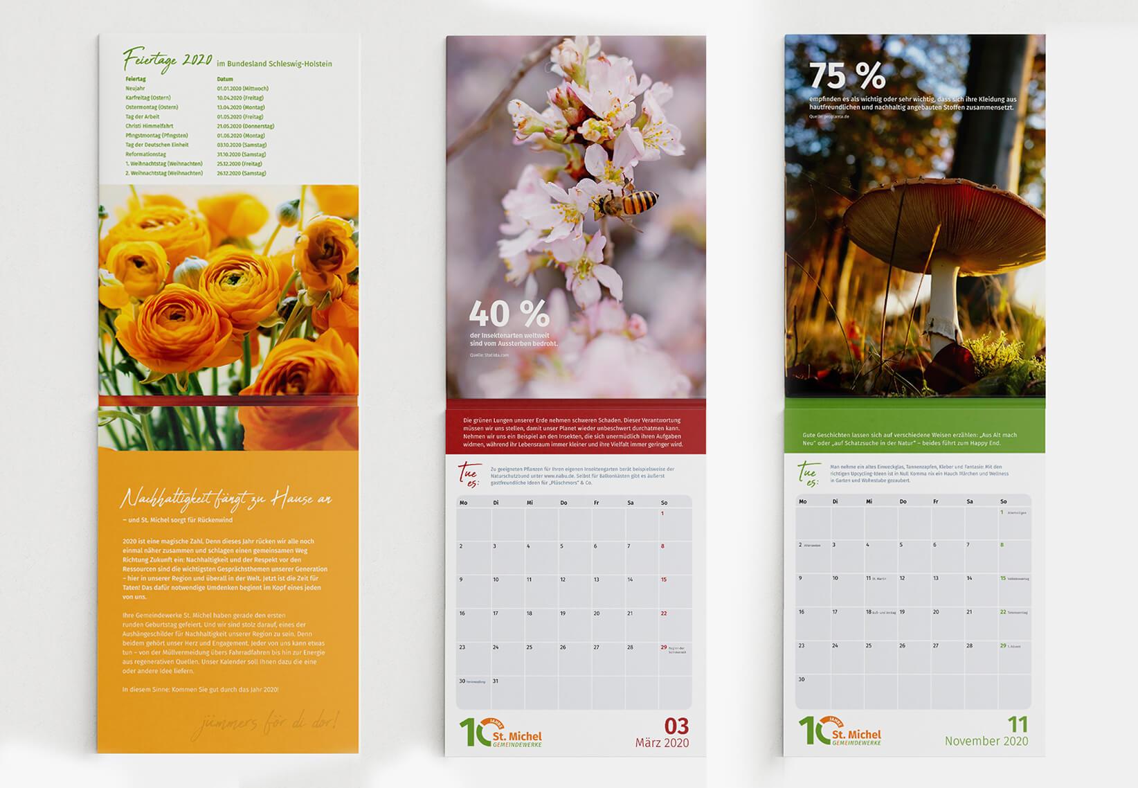 Gestaltung Kalender