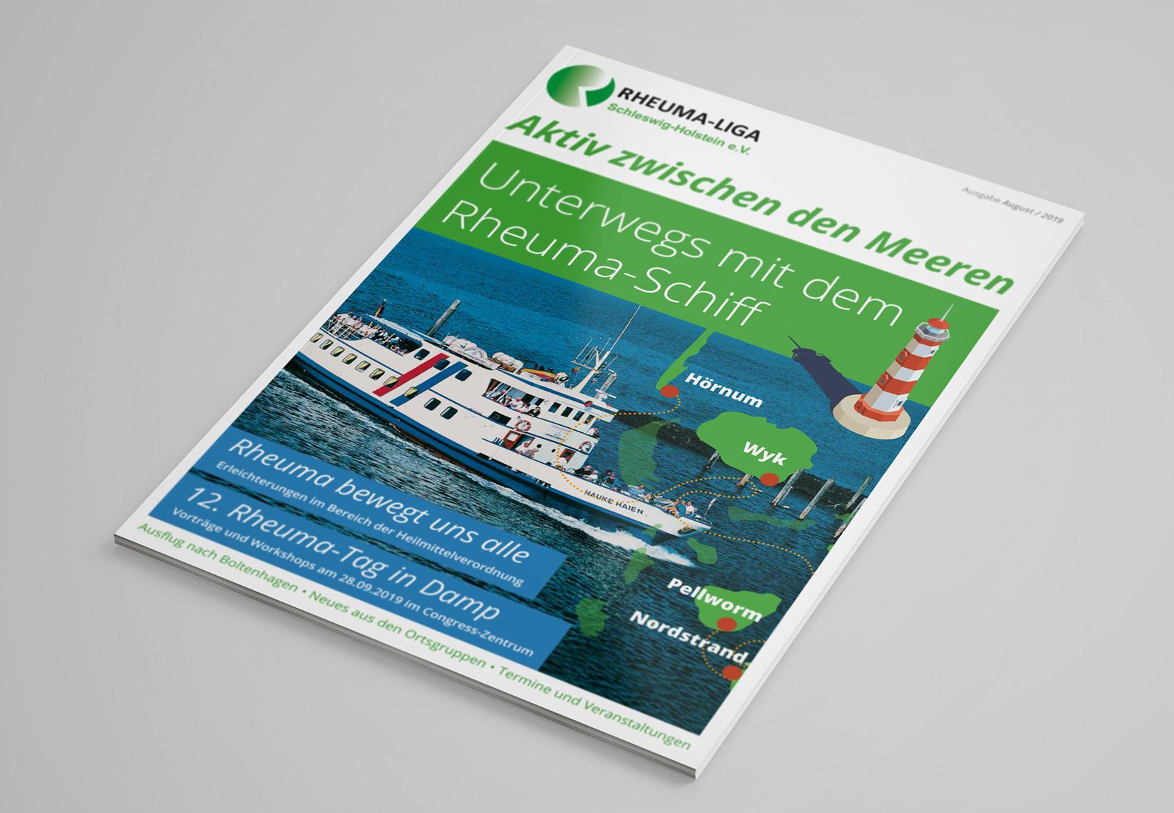Cover Mitgliederzeitung Gestaltung